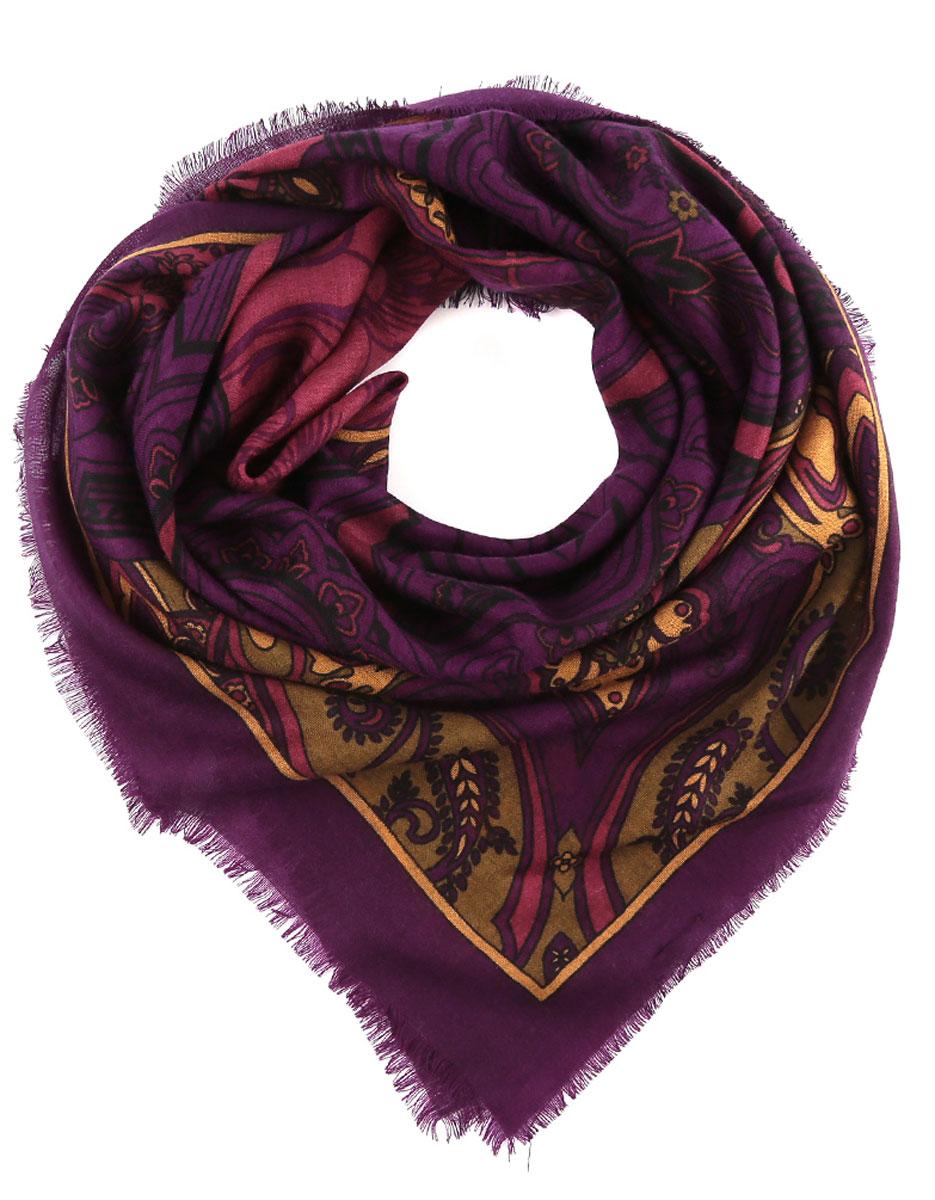 Платок женский. YN27YN27-9Стильный женский платок Fabretti станет великолепным завершением любого наряда. Легкий платок изготовлен из высококачественной 100% шерсти. Он оформлен оригинальным этническим принтом с цветочными мотивами и дополнен тонкой бахромой по краям. Классическая квадратная форма позволяет носить платок на шее, украшать им прическу или декорировать сумочку. Мягкий и шелковистый платок поможет вам создать изысканный женственный образ, а также согреет в непогоду. Такой платок превосходно дополнит любой наряд и подчеркнет ваш неповторимый вкус и элегантность.