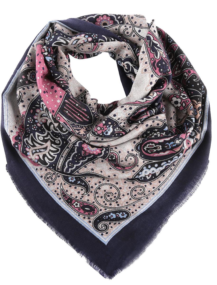 Платок женский. YH010YH010-14Стильный женский платок Fabretti станет великолепным завершением любого наряда. Легкий платок изготовлен из высококачественной 100% шерсти. Он оформлен красочным этническим принтом и дополнен тонкой бахромой по краям. Классическая квадратная форма позволяет носить платок на шее, украшать им прическу или декорировать сумочку. Мягкий и шелковистый платок поможет вам создать изысканный женственный образ, а также согреет в непогоду. Такой платок превосходно дополнит любой наряд и подчеркнет ваш неповторимый вкус и элегантность.