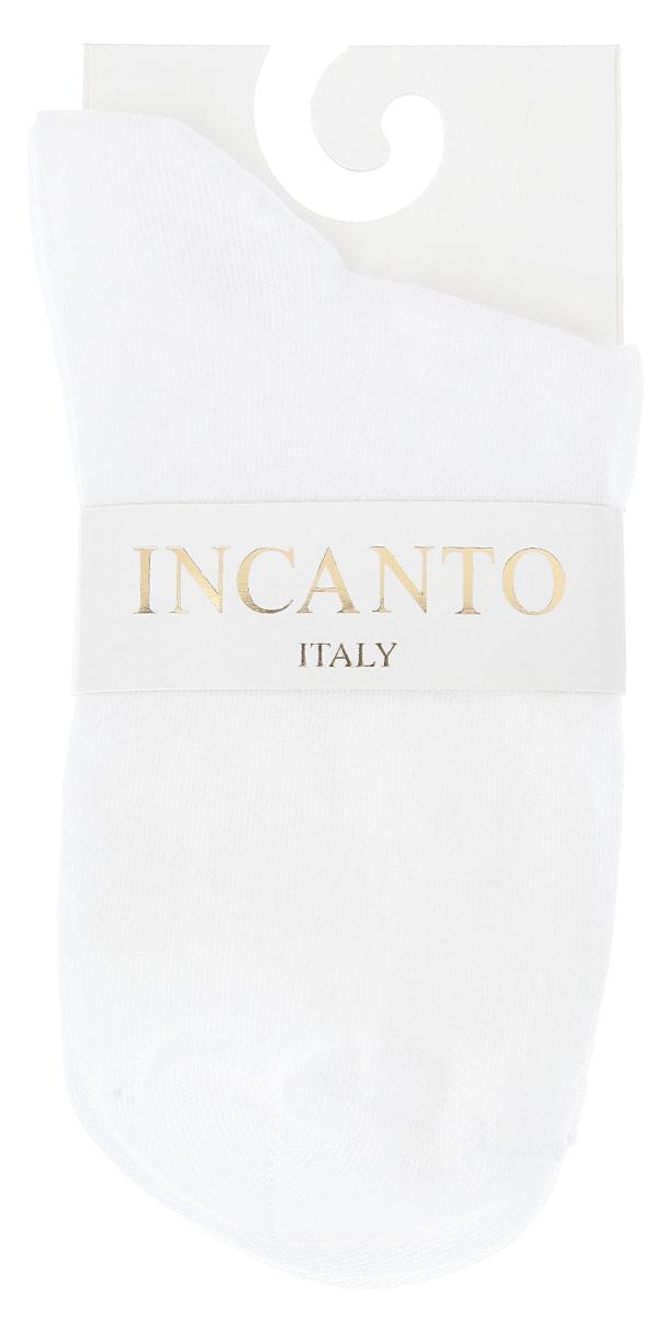 IBD733003_BiancoЖенские носки Incanto Collant изготовлены из высококачественного сырья. Носки очень мягкие на ощупь, а резинка плотно облегает ногу, не сдавливая ее, благодаря чему вам будет комфортно и удобно.