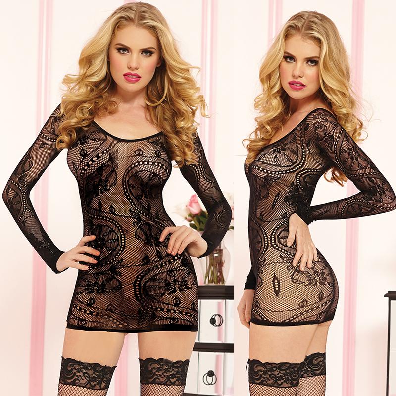 Платье гоу-гоу. STM-9859PSTM-9859PBLKОблегающее мини-платье Seventil Midnight с оригинальным орнаментом с длинными рукавами, округлым вырезом горловины. Модель из сетчатого полотна, которое украшает изгибы тела, но оставляя тайну, не обнажая ваше тело. Такое игривое платье добавит особенного настроения вашему образу.