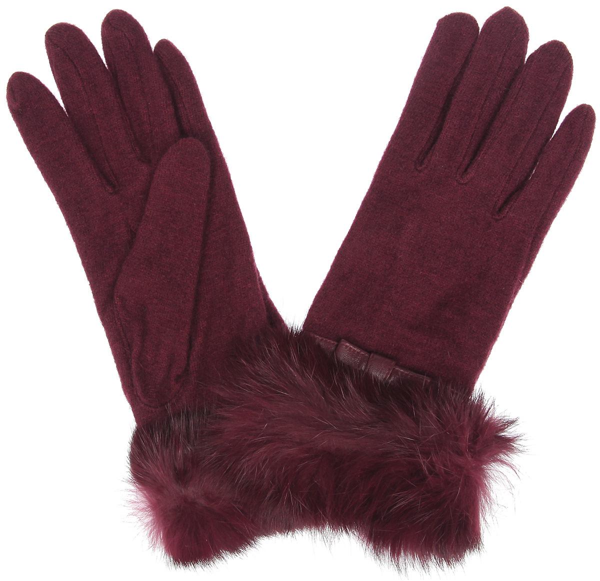 ПерчаткиLB-PH-37Стильные женские перчатки Labbra не только защитят ваши руки от холода, но и станут великолепным украшением. Перчатки выполнены из шерсти с добавлением акрила и ангоры. Модель украшена оторочкой из натурального меха кролика и декоративным кожаным ремешком с бантиком. В настоящее время перчатки являются неотъемлемой частью одежды, вместе с этим аксессуаром вы обретаете женственность и элегантность. Перчатки станут завершающим и подчеркивающим элементом вашего стиля и неповторимости.