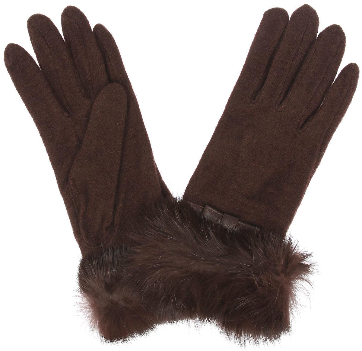 Перчатки женские. LB-PH-37LB-PH-37Стильные женские перчатки Labbra не только защитят ваши руки от холода, но и станут великолепным украшением. Перчатки выполнены из шерсти с добавлением акрила и ангоры. Модель украшена оторочкой из натурального меха кролика и декоративным кожаным ремешком с бантиком. В настоящее время перчатки являются неотъемлемой частью одежды, вместе с этим аксессуаром вы обретаете женственность и элегантность. Перчатки станут завершающим и подчеркивающим элементом вашего стиля и неповторимости.