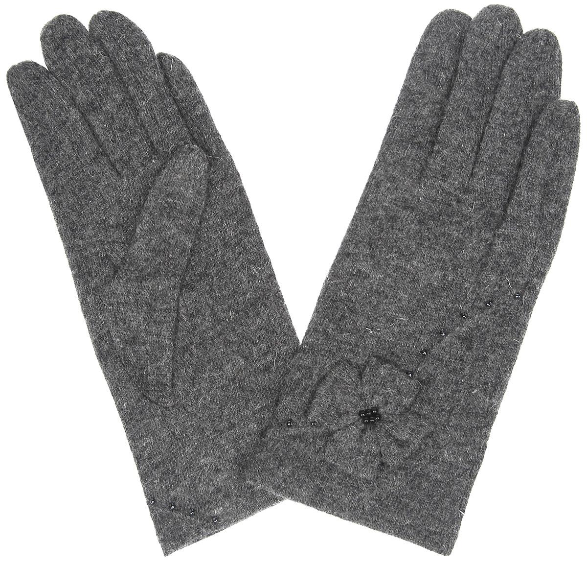 Перчатки женские. LB-PH-30LB-PH-30Женские перчатки Labbra, изготовленные из шерсти с добавлением акрила и ангоры, станут идеальным вариантом для прохладной погоды. Они максимально сохраняют тепло, мягкие, идеально сидят на руке и хорошо тянутся. На лицевой стороне изделие украшено декоративным бантиком и вышивкой из бисера. Перчатки являются неотъемлемой принадлежностью одежды, они станут завершающим и подчеркивающим элементом вашего неповторимого стиля и индивидуальности.