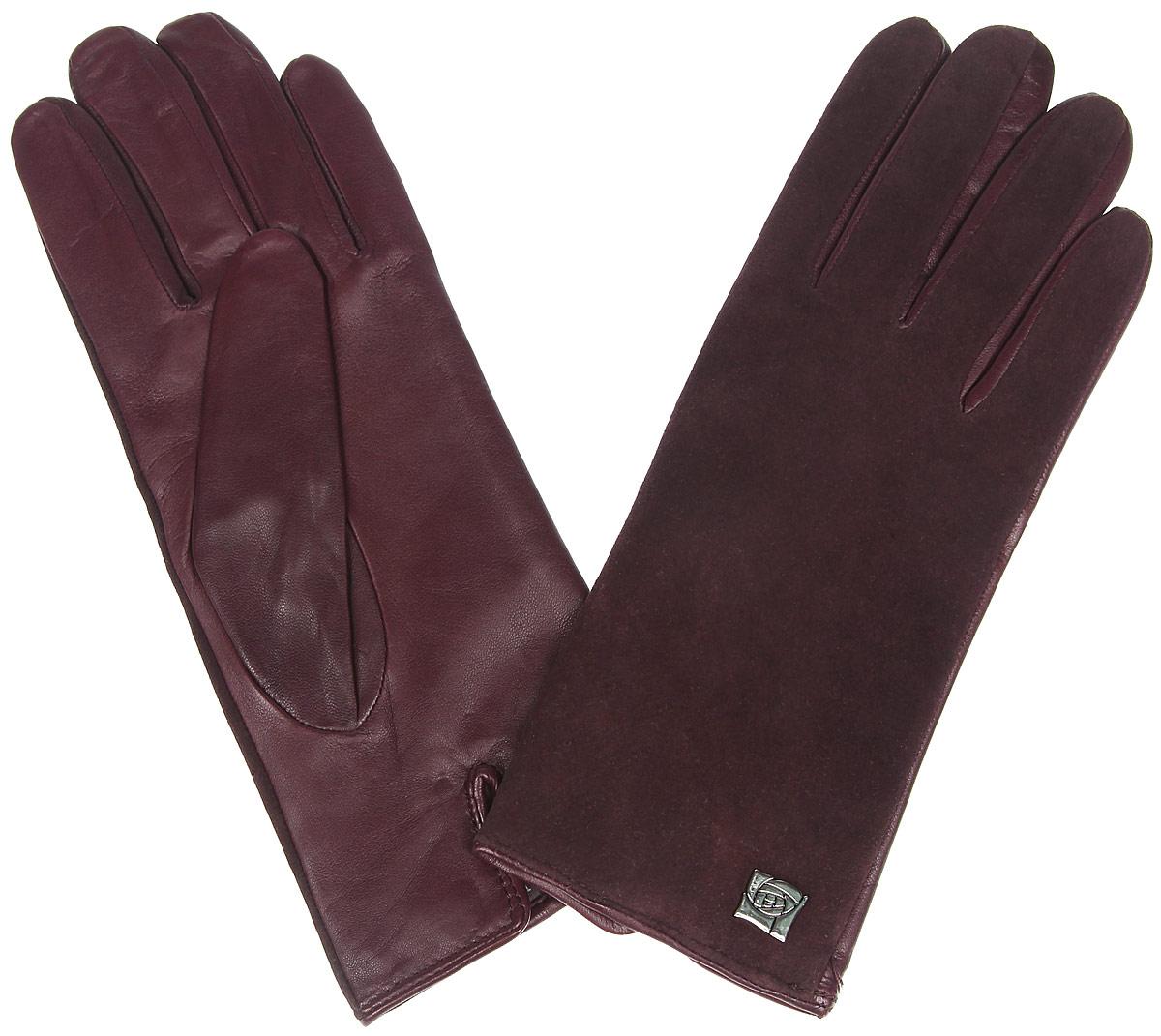 ПерчаткиIS992Классические женские перчатки Eleganzza - первая необходимость в осенне-зимний период. Выполненные из комбинированной кожи на подкладке из шерсти, они необыкновенно мягкие и приятные на ощупь. Лицевая сторона изделия с бархатистой поверхностью украшена декоративным элементом в виде розы. Тыльная сторона дополнена аккуратным разрезом. Потрясающие женские перчатки Eleganzza подойдут романтичным особам с тонким вкусом, они защитят руки от холода и ветра, сохраняя их красоту.