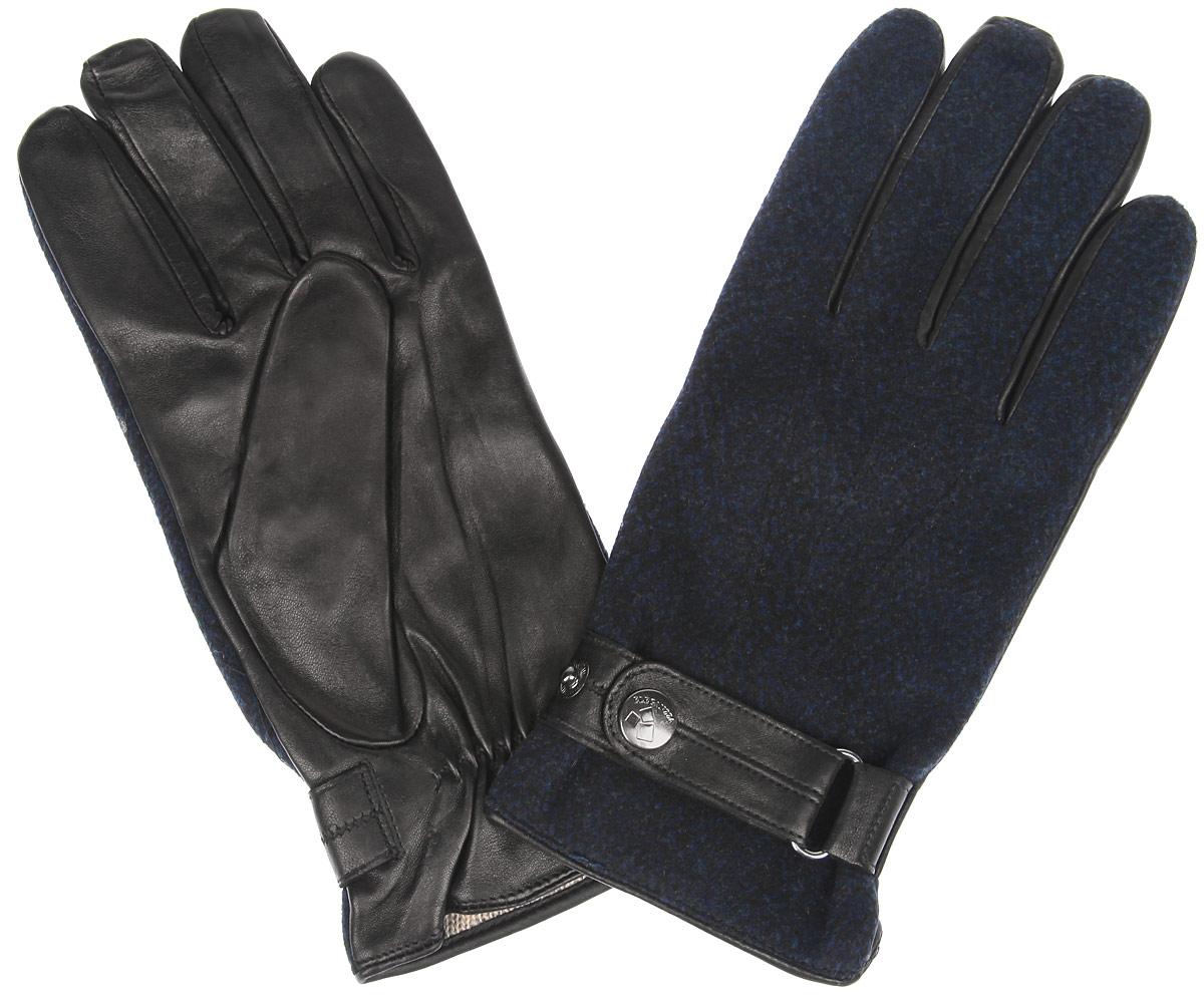 Перчатки мужские. IS90900IS90900Элегантные мужские перчатки Eleganzza станут великолепным дополнением вашего образа и защитят ваши руки от холода и ветра во время прогулок. Перчатки выполнены из натуральной кожи ягненка и имеют подкладку из шерсти и кашемира, что позволяет им надежно сохранять тепло и обеспечивает высокую гигроскопичность. Перчатки дополнены хлястиком на запястье, застегивающимся на кнопку, что позволяет регулировать объем манжеты перчатки. Такие перчатки будут оригинальным завершающим штрихом в создании современного модного образа, они подчеркнут ваш изысканный вкус и станут незаменимым и практичным аксессуаром.