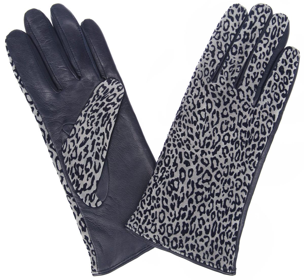Перчатки женские. IS02015IS02015Стильные женские перчатки Eleganzza не только защитят ваши руки от холода, но и станут великолепным украшением. Ладонная часть модели выполнена из натуральной кожи с гладкой поверхностью, тыльная сторона - из натуральной замши с лазерным тиснением с принтом под леопарда. Подкладка выполнена из натуральной шерсти с добавлением кашемира. Вместе с этим аксессуаром вы обретаете женственность и элегантность. Варежки Eleganzza станут завершающим и подчеркивающим элементом вашего стиля и неповторимости.