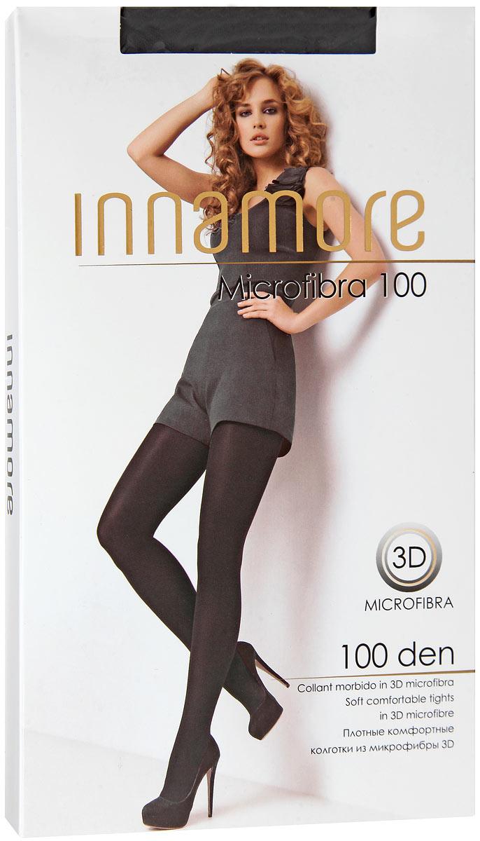 Колготки 3D Microfibra 100Microfibra 100Мягкие комфортные колготки Innamore из микрофибры трехмерной эластичности. Удобный широкий пояс, плоский шов, анатомическая ластовица. Плотность: 100 den.