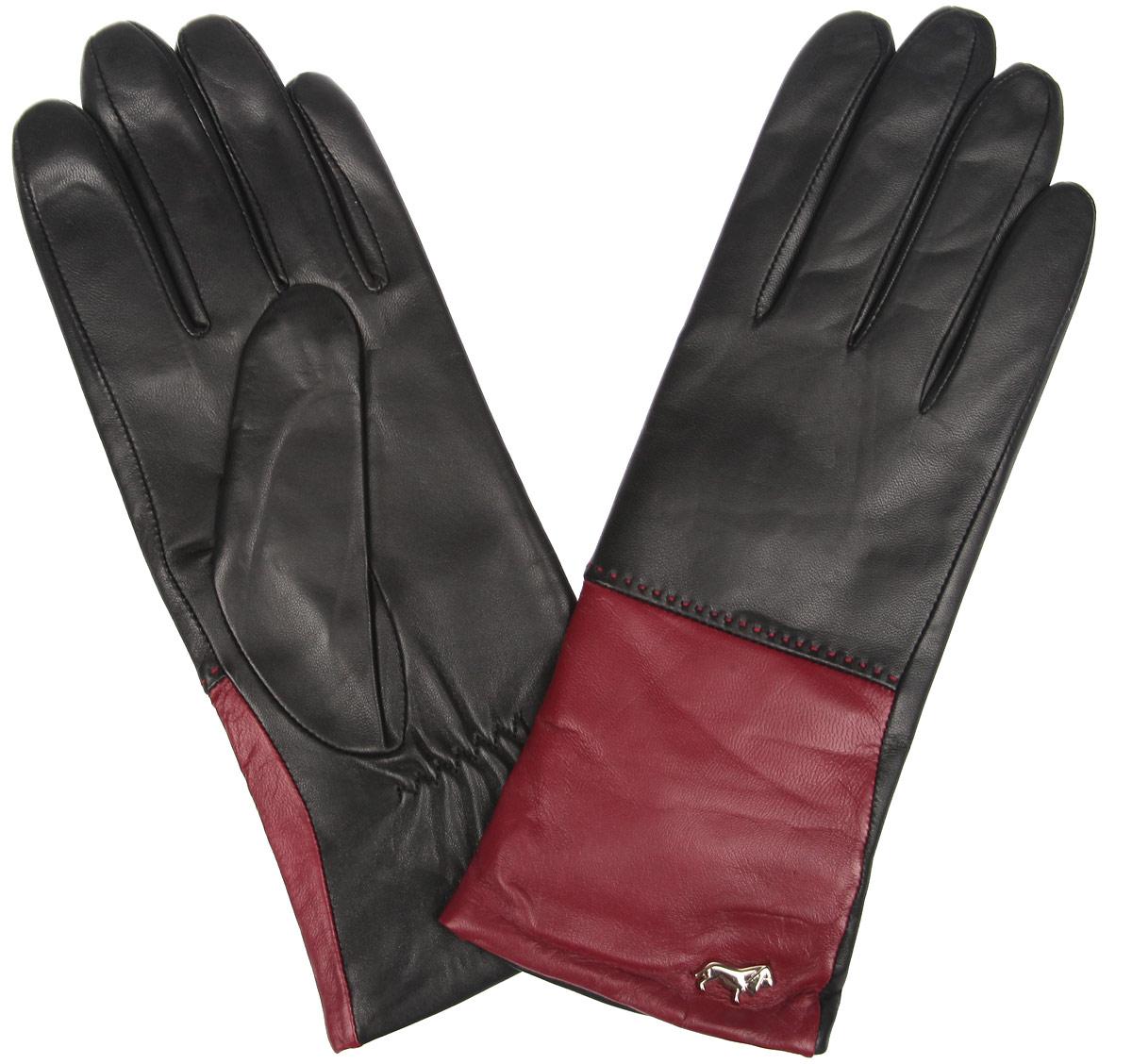 Перчатки женские. LB-7777LB-7777Женские перчатки Labbra не только защитят ваши руки от холода, но и станут стильным украшением. Перчатки выполнены из натуральной кожи ягненка. Они мягкие, максимально сохраняют тепло, идеально сидят на руке. Подкладка изделия изготовлена из шерсти с добавлением акрила. Лицевая сторона изделия дополнена декоративным элементом в виде логотипа бренда. На запястье модель присборена на небольшие эластичные резинки. Перчатки станут завершающим элементом вашего неповторимого стиля и подчеркнут вашу индивидуальность.