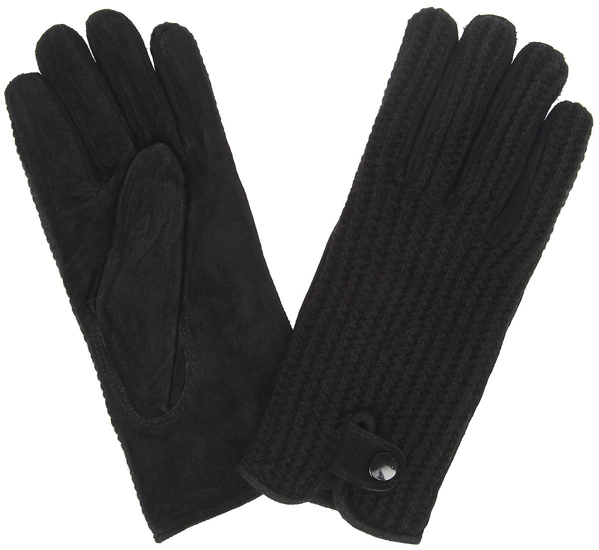 ПерчаткиXAL 05 PUЭлегантные женские перчатки Modo станут великолепным дополнением вашего образа и защитят ваши руки от холода и ветра во время прогулок. Перчатки выполнены из натурального велюра и имеют подкладку из флиса, что позволяет им надежно сохранять тепло и обеспечивает высокую гигроскопичность. Модель дополнена хлястиком с кнопкой на запястье и оформлена вязаными вставками. Такие перчатки будут оригинальным завершающим штрихом в создании современного модного образа, они подчеркнут ваш изысканный вкус и станут незаменимым и практичным аксессуаром.