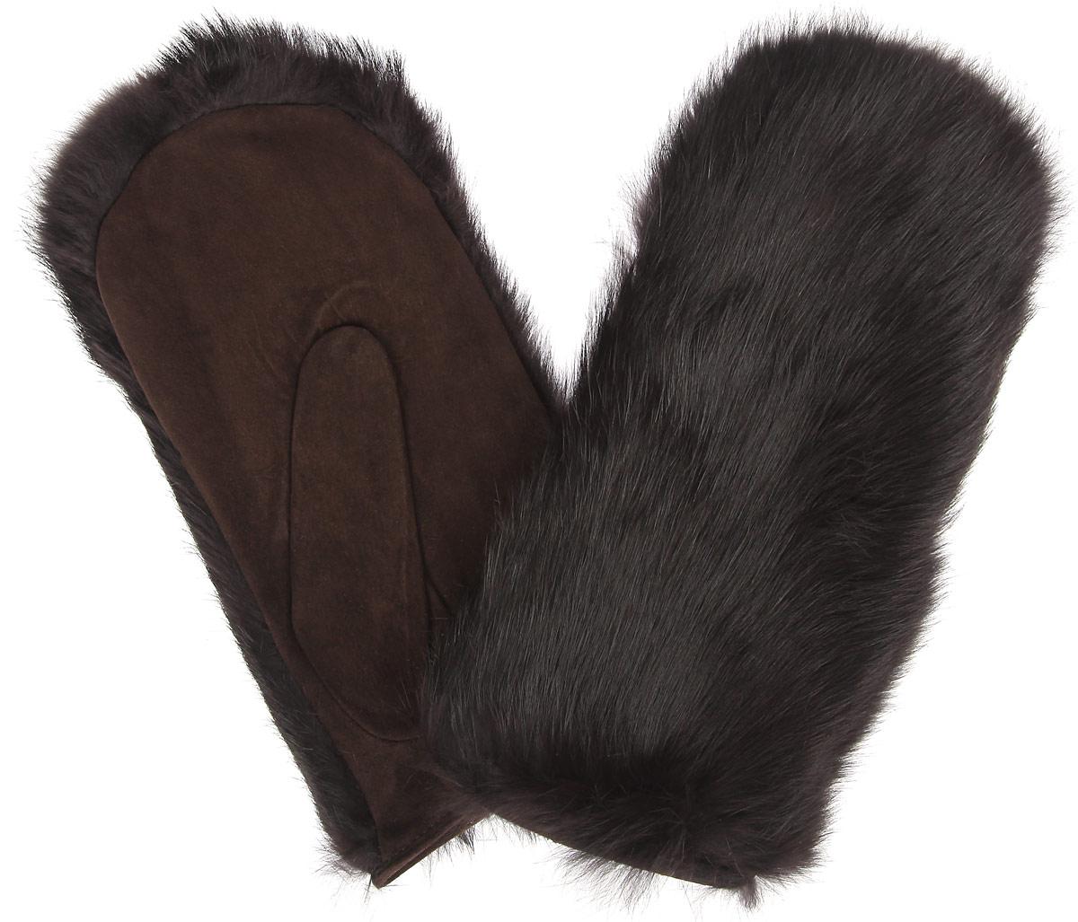 Варежки женские. IS991IS991Стильные женские варежки Eleganzza не только защитят ваши руки от холода, но и станут великолепным украшением. Ладонная часть модели выполнена из натуральной замши, внешняя сторона - из натурального меха кролика. Подкладка в форме перчатки выполнена из натуральной шерсти. На запястье имеется стяжка. Вместе с этим аксессуаром вы обретаете женственность и элегантность. Варежки Eleganzza станут завершающим элементом вашего стиля и неповторимости.