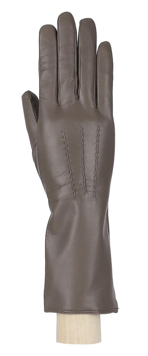 Перчатки женские. 12.612.6-10Восхитительные женские перчатки Fabretti, выполненные из эфиопской натуральной кожи ягненка на подкладке из хлопка с добавлением кашемира, не только защитят ваши руки от холода, но и станут стильным дополнением вашего образа. Лицевая сторона оформлена аккуратной прострочкой три луча. Слегка удлиненные манжеты с тыльной стороны присборены на эластичную резинку для лучшей фиксации. Такие перчатки подчеркнут ваш стиль и неповторимость, и придадут всему образу нотки женственности и элегантности.