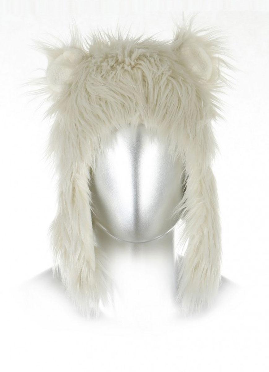 Шапка Белый медведь. HH288-JHH288-JОчаровательная шапка Robin Ruth Белый медведь дополнит ваш образ и будет радовать вас и ваших друзей в праздники и на совместных мероприятиях. Шапка-ушанка в виде головы медведя выполнена из искусственного меха с подкладкой из флиса. Внутренняя часть ушек также выполнена из флиса. Такая модель отлично подойдет для прогулок в прохладную погоду, а также станет замечательным подарком вашим родным и знакомым.