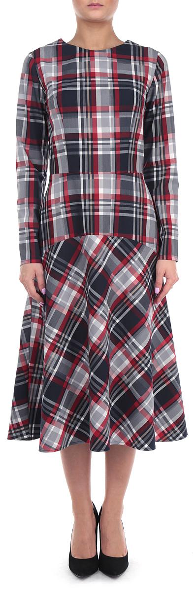 Платье. 674674Элегантное платье Lautus выполнено из высококачественного комбинированного материала. Такое платье обеспечит вам комфорт и удобство при носке. Модель с длинными рукавами и круглым вырезом горловины выгодно подчеркнет все достоинства вашей фигуры благодаря приталенному силуэту. Изделие застегивается на потайную молнию на спинке. Платье оформлено стильным принтом в крупную клетку. Изысканное платье-макси создаст обворожительный и неповторимый образ. Это модное и удобное платье станет превосходным дополнением к вашему гардеробу, оно подарит вам удобство и поможет вам подчеркнуть свой вкус и неповторимый стиль.