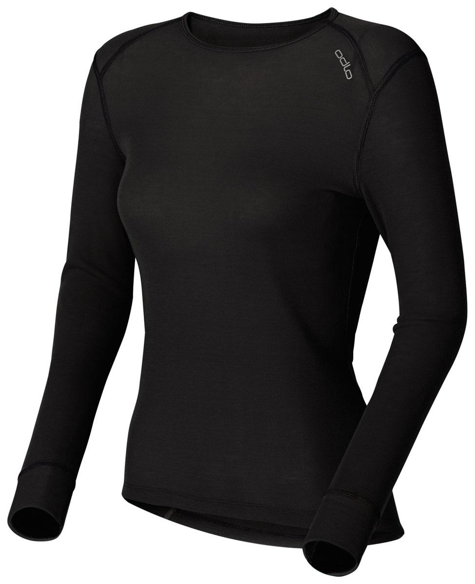 152021_15000Женская футболка с длинным рукавом Odlo Warm идеально подойдет для активного отдыха или тренировок. Лицевая сторона гладкая, а изнаночная - с мягким теплым начесом, позволяющим отводить влагу и сохранять кожу сухой. Мягкие плоские швы позволяют носить белье с комфортом, а благодаря Effect by ODLO нет неприятных запахов. Изделие отличается хорошей термоизоляцией. Благодаря ионам серебра, входящим в состав волокон ткани, предотвращается размножение бактерий и развитие неприятного запаха. Модель с длинными рукавами и круглым вырезом горловины оформлена небольшой термоаппликацией в виде названия бренда. Рукава дополнены широкими эластичными манжетами. Спинка незначительно удлинена. Рекомендуемая температура до -15°С.