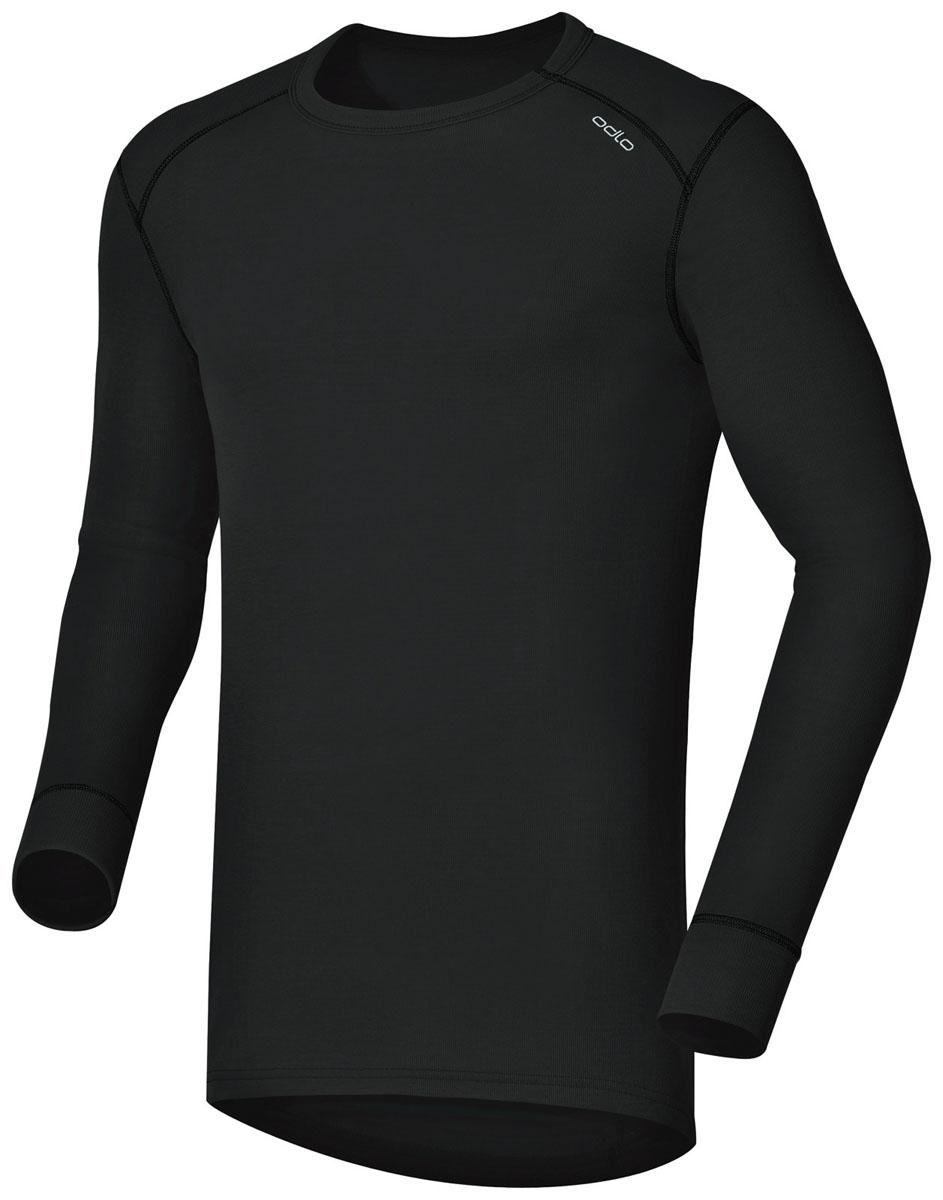 152022_15000Мужская футболка с длинным рукавом Odlo Warm спортивного стиля идеально подойдет для активного отдыха или тренировок. Лицевая сторона гладкая, а изнаночная - с мягким теплым начесом, позволяющим отводить влагу и сохранять кожу сухой. Мягкие плоские швы позволяют носить белье с комфортом, а благодаря Effect by ODLO нет неприятных запахов. Модель с длинными рукавами и круглым вырезом горловины оформлена небольшой термоаппликацией в виде названия бренда. Рукава дополнены широкими эластичными манжетами. Спинка незначительно удлинена. Рекомендуемая температура до -15°С.