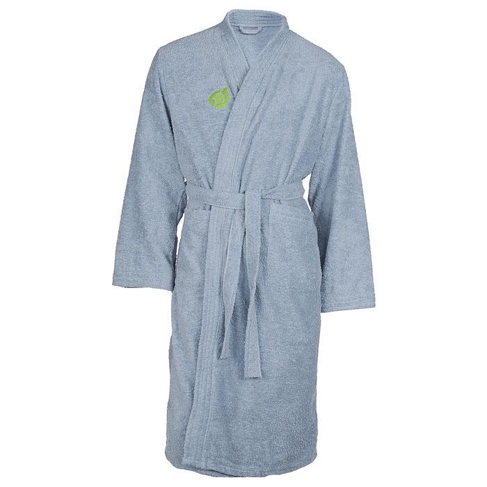 Халат мужской. 3215532155Мужской махровый халат Банные штучки, выполненный из натурального хлопка, принесет вам неповторимую легкость и удовольствие повседневного комфорта. Халат с запахом, на поясе и двумя накладными карманами. В атмосфере домашнего тепла и уюта вы и в будни сможете сохранить радостное и светлое настроение, облачившись в удобный халат после расслабляющей ванны вечером или после контрастного душа с утра.
