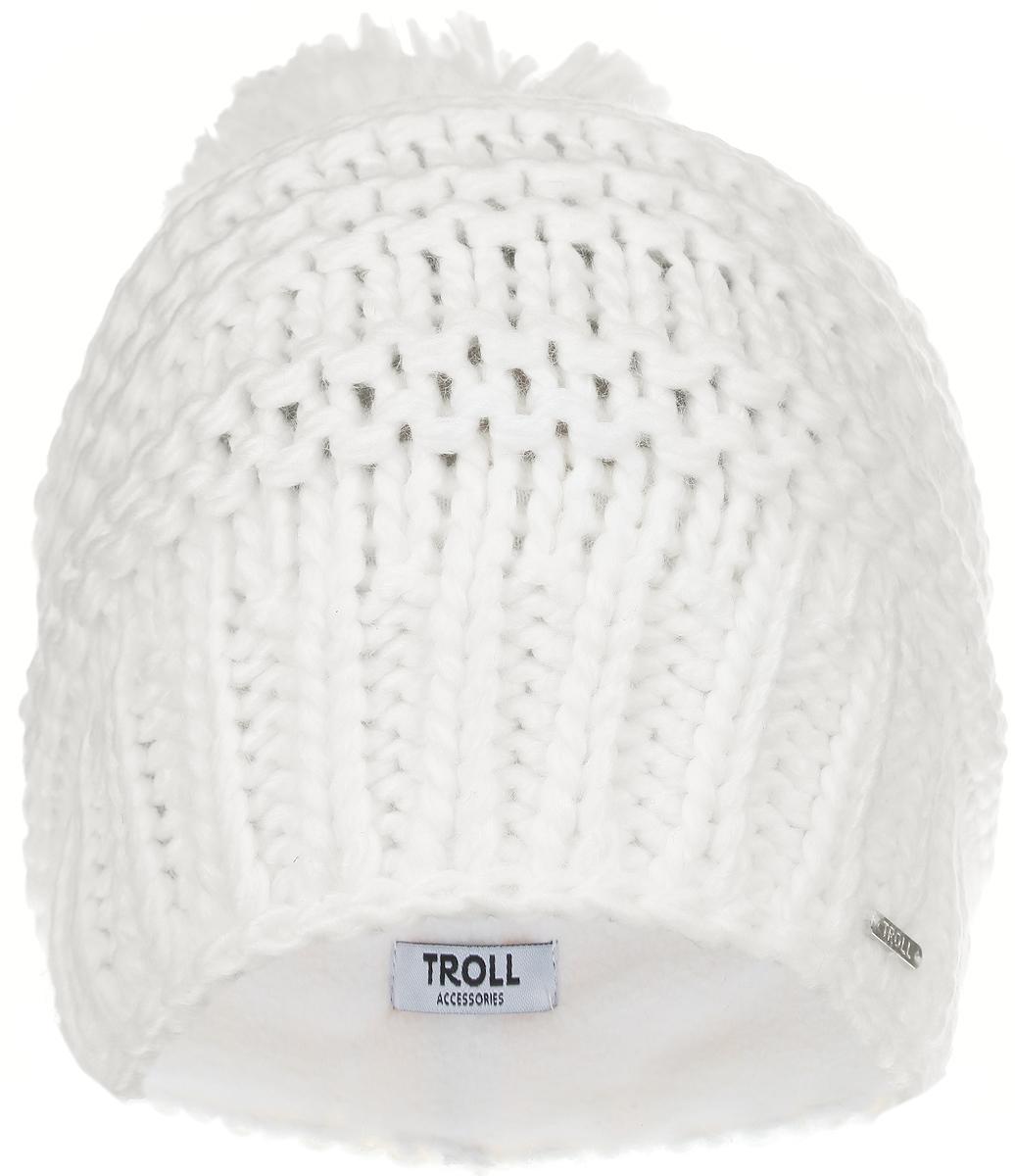 Шапка женская. TCZ0195BETCZ0195BEСтильная женская шапка Troll отлично дополнит ваш образ в холодную погоду. Шапка, выполненная из 100%-го акрила, отлично сохраняет тепло. Вязка в резинку по нижнему краю изделия обеспечивает удобную посадку. Классическая модель снабжена помпоном и небольшим декоративным элементом с надписью Troll. Такая модель комфортна и приятна на ощупь, она великолепно подчеркнет ваш вкус. Такая шапка станет отличным дополнением к вашему осеннему или зимнему гардеробу, в ней вам будет уютно и тепло!