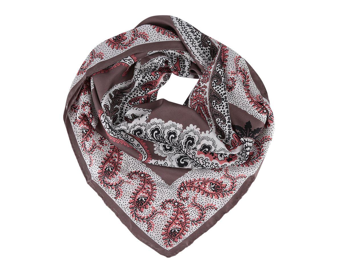 Платок7301_1Платок Leo Ventoni, выполненный из натурального шелка, гармонично дополнит образ современной женщины. Благодаря своему составу, он легкий, невероятно мягкий и приятный на ощупь. Модель оформлена цветочным принтом и узорами. Классическая квадратная форма позволяет носить платок на шее, украшать им прическу или декорировать сумочку. С таким платком вы всегда будете выглядеть женственно и привлекательно.