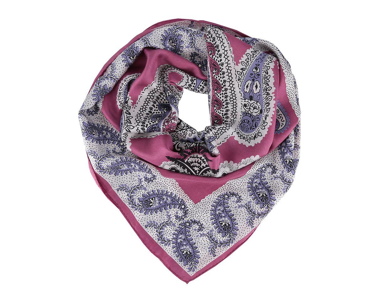 Платок женский. 73017301_1Платок Leo Ventoni, выполненный из натурального шелка, гармонично дополнит образ современной женщины. Благодаря своему составу, он легкий, невероятно мягкий и приятный на ощупь. Модель оформлена цветочным принтом и узорами. Классическая квадратная форма позволяет носить платок на шее, украшать им прическу или декорировать сумочку. С таким платком вы всегда будете выглядеть женственно и привлекательно.