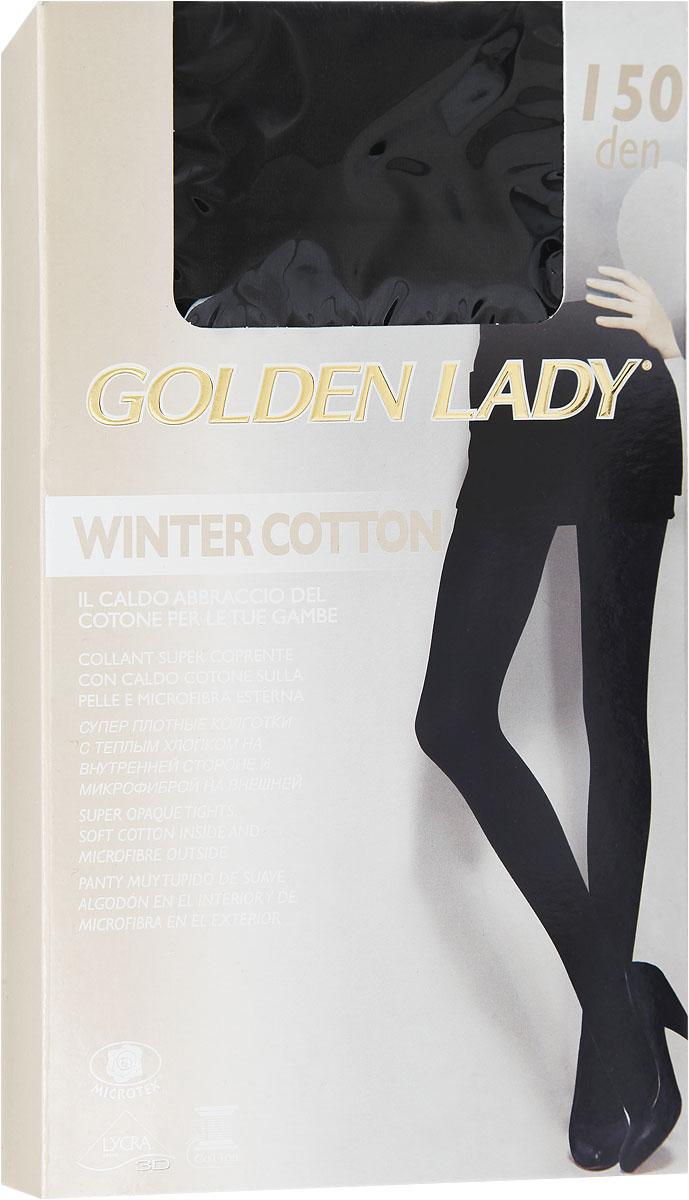 Колготки женские Winter Cotton 150134FFFУдобные и стильные женские колготки Golden Lady Winter Cotton 150, изготовленные из высококачественного комбинированного материала, идеально подойдут вам. Колготки легко тянутся, что делает их комфортными в носке. Плотные колготки из микрофибры и хлопка имеют комфортные плоские швы, дополнены гигиенической ластовицей. Эластичная резинка на поясе плотно облегает талию, обеспечивая комфорт и удобство. Плотность: 150 den.