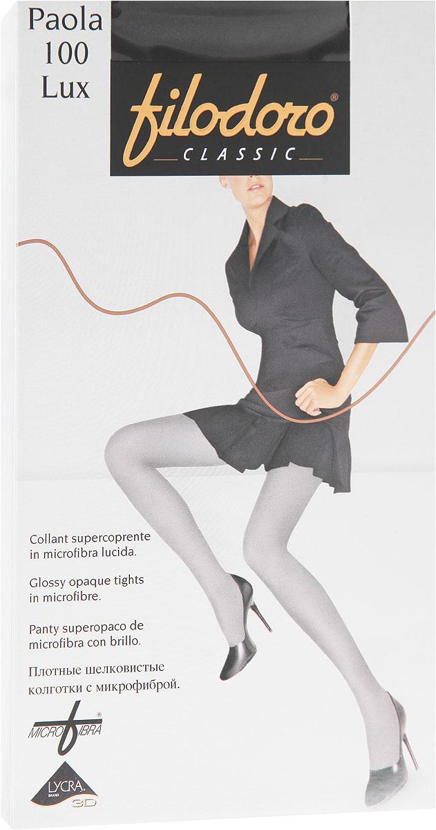 Колготки женские Paola 100 LuxC114405FCУдобные и стильные женские колготки Filodoro Classic Paola 100 Lux, изготовленные из высококачественного комбинированного материала, идеально подойдут вам. Колготки легко тянутся, что делает их комфортными в носке. Плотные шелковистые колготки из микрофибры имеют комфортные плоские швы, дополнены гигиенической ластовицей. Эластичная резинка на поясе плотно облегает талию, обеспечивая комфорт и удобство. Колготки имеют невидимый мысок. Плотность: 100 den.