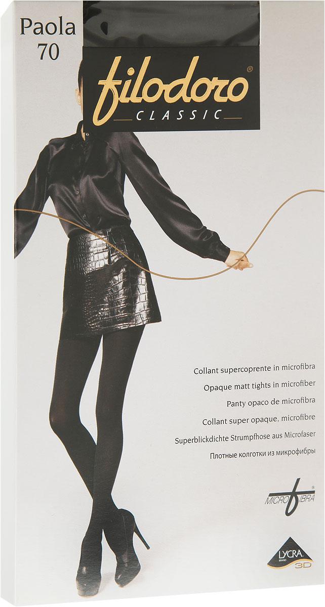 Колготки женские Paola 70C115077FCУдобные и стильные женские колготки Filodoro Classic Paola 70, изготовленные из высококачественного комбинированного материала, идеально подойдут вам. Колготки легко тянутся, что делает их комфортными в носке. Плотные колготки из микрофибры имеют комфортные плоские швы, дополнены гигиенической ластовицей. Эластичная резинка на поясе плотно облегает талию, обеспечивая комфорт и удобство. Колготки имеют невидимый мысок. Плотность: 70 den.