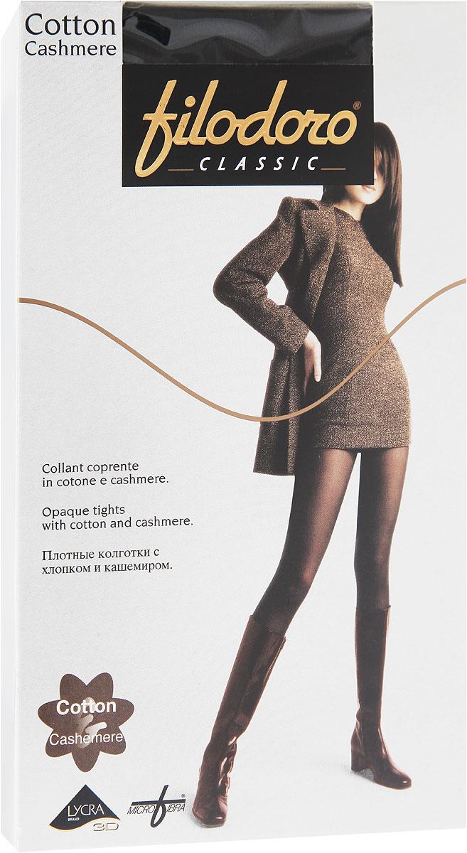 Колготки женские Cotton CashmereC113972CLУдобные и стильные женские колготки Filodoro Classic Cotton Cashmere, изготовленные из высококачественного комбинированного материала, идеально подойдут вам. Колготки легко тянутся, что делает их комфортными в носке. Плотные колготки с хлопком и кашемиром имеют комфортные плоские швы, дополнены гигиенической ластовицей. Эластичная резинка на поясе плотно облегает талию, обеспечивая комфорт и удобство. Колготки имеют прозрачные носки.