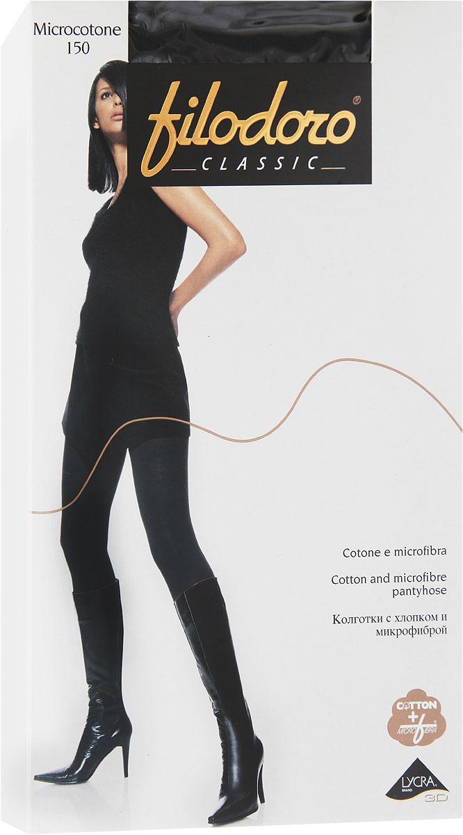 Колготки женские Microcotton 150C113563CLУдобные и стильные женские колготки Filodoro Classic Microcotton 150, изготовленные из высококачественного комбинированного материала, идеально подойдут вам. Колготки легко тянутся, что делает их комфортными в носке. Плотные колготки с хлопком и микрофиброй имеют комфортные плоские швы, дополнены гигиенической ластовицей. Эластичная резинка на поясе плотно облегает талию, обеспечивая комфорт и удобство. Колготки имеют прозрачные носки.