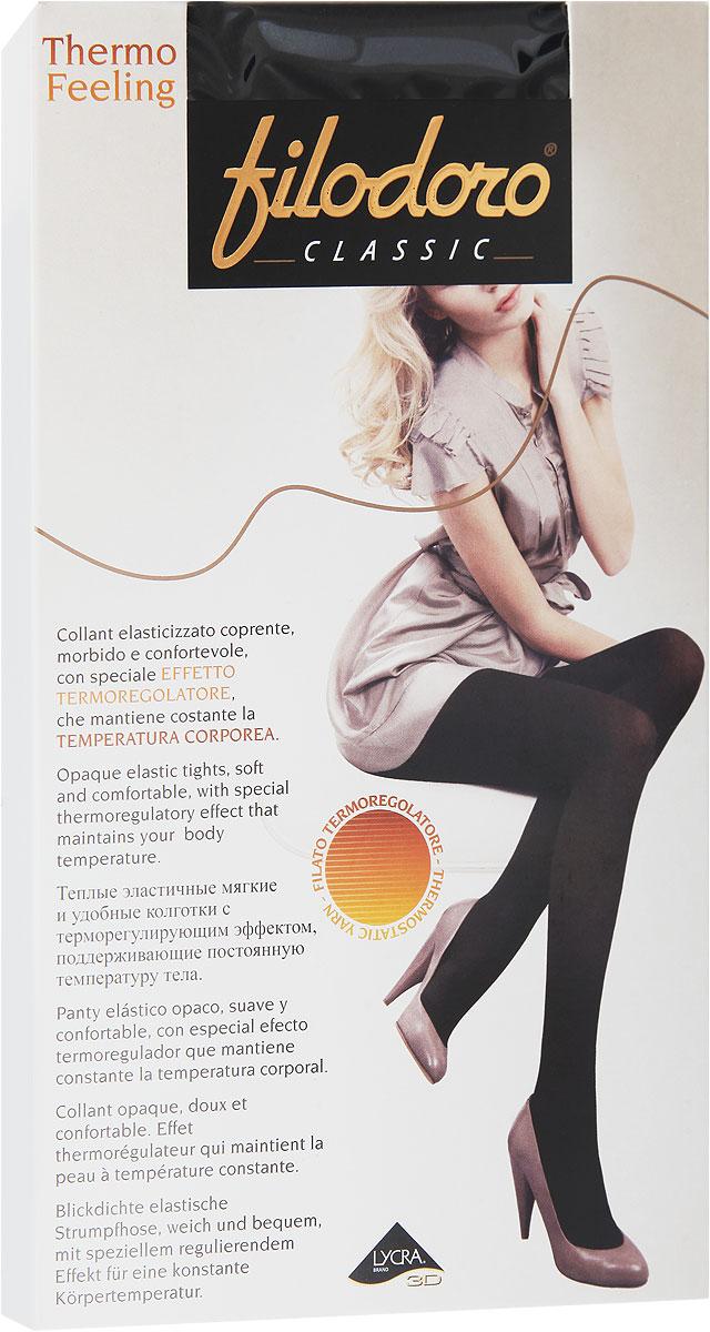 Колготки женские Thermo Feeling 101C114985FCУдобные и стильные женские колготки Filodoro Classic Thermo Feeling 101, изготовленные из высококачественного комбинированного материала, идеально подойдут вам. Колготки легко тянутся, что делает их комфортными в носке. Теплые эластичные мягкие колготки с терморегулирующим эффектом имеют комфортные плоские швы и неуплотненный носок, дополнены гигиенической ластовицей. Эластичная резинка на поясе плотно облегает талию, обеспечивая комфорт и удобство. Плотность: 101 den.