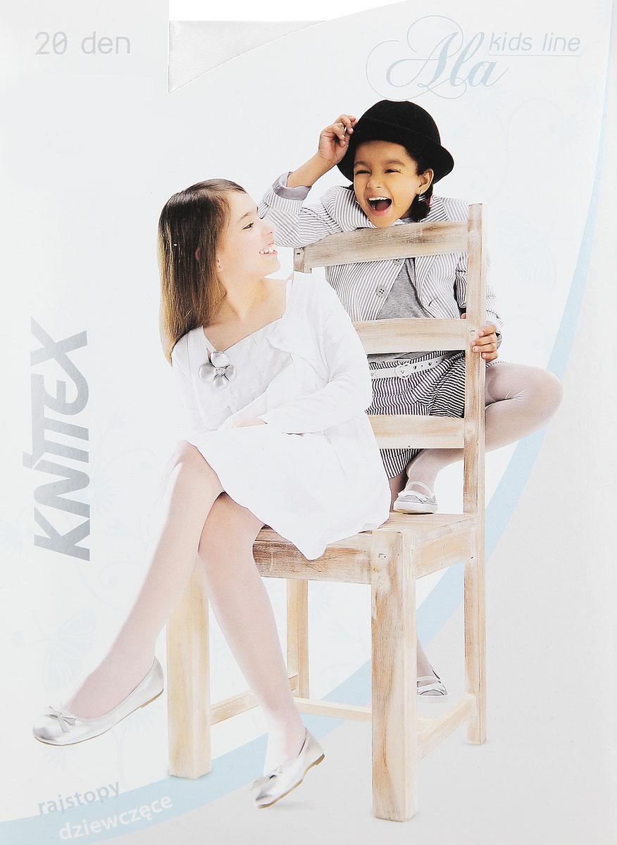 Колготки для девочки AlaAlaКолготки для девочки Knittex Ala, изготовленные из высококачественного материала, идеально подойдут вашей дочурке. Полиамид и эластан предотвращают растяжение и деформацию после стирки. Чрезвычайно мягкие колготки имеют широкую резинку и комфортные плоские швы. Однотонные колготки равномерно облегают ножки, не сдавливая и не доставляя дискомфорта. Эластичные швы и мягкая резинка на поясе не позволят колготам сползать, и при этом не будут стеснять движений. Классические колготки - это идеальное решение на каждый день для прогулки, школы, яслей или садика. Такие колготки станут великолепным дополнением к гардеробу вашей красавицы. Плотность: 20 den.
