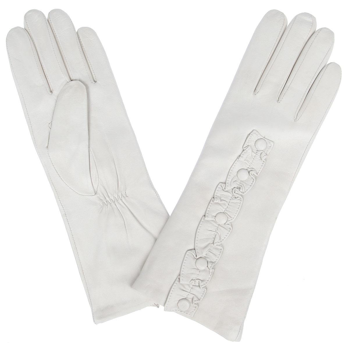 Перчатки женские. IS229IS229Стильные женские перчатки Eleganzza не только защитят ваши руки от холода, но и станут великолепным украшением. Перчатки выполнены из натуральной кожи с подкладкой из шерсти. Модель украшена декоративной отделкой из кожи. В настоящее время перчатки являются неотъемлемой частью одежды, вместе с этим аксессуаром вы обретаете женственность и элегантность. Перчатки станут завершающим и подчеркивающим элементом вашего стиля и неповторимости.
