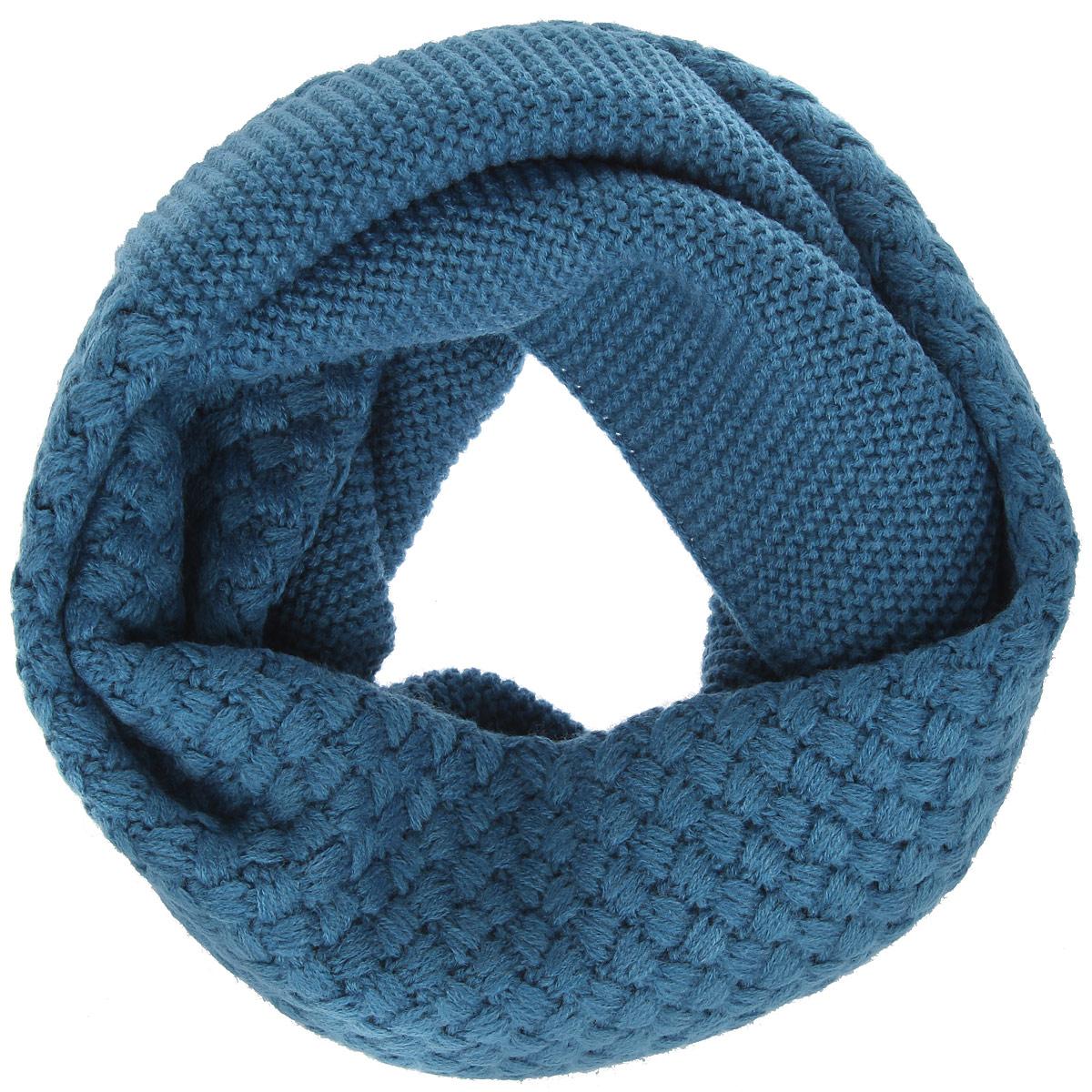 DB33-6403-12Женский вязаный снуд-хомут Eleganzza станет отличным дополнением к гардеробу в холодную погоду. Изготовленный из высококачественной пряжи с содержанием шерсти и вискозы, он необычайно мягкий и приятный на ощупь, максимально сохраняет тепло. Изделие представляет собой объемный шарф, связанный по кругу. Модель оформлена вязаным узором. Модный аксессуар гармонично дополнит образ современной женщины, следящей за своим имиджем и стремящейся всегда оставаться стильной.