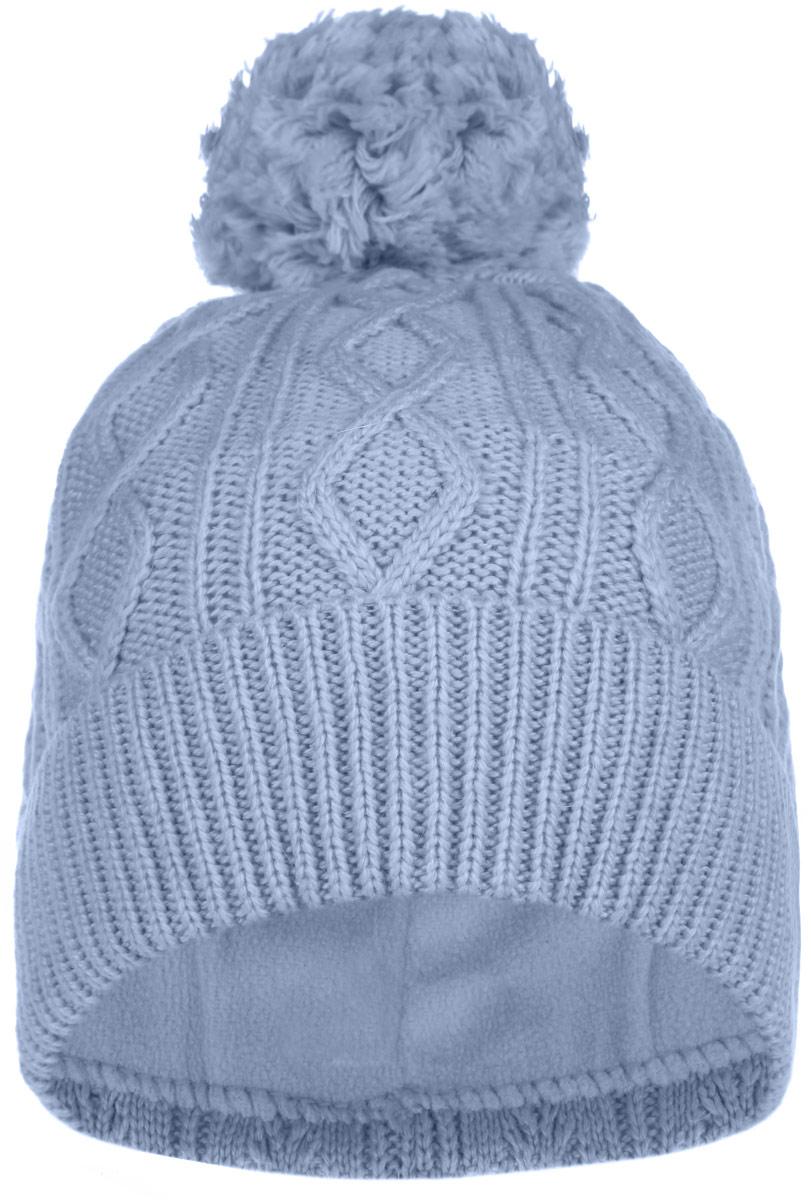 Шапка для девочки. 215BBGB7215BBGB7Шапка для девочки Button Blue идеально подойдет для прогулок в прохладную погоду. Благодаря своему составу, она мягкая и приятная на ощупь, идеально прилегает к голове. Для комфорта и тепла внутри шапки предусмотрена мягкая флисовая подкладка. Шапка с отворотом дополнена на макушке пушистым помпоном. Модель оформлена вязаным узором. Дизайн, расцветка и отличное качество делают эту шапку незаменимым предметом детского гардероба. В ней ребенку будет тепло, уютно и комфортно. Уважаемые клиенты! Размер, доступный для заказа, является обхватом головы.