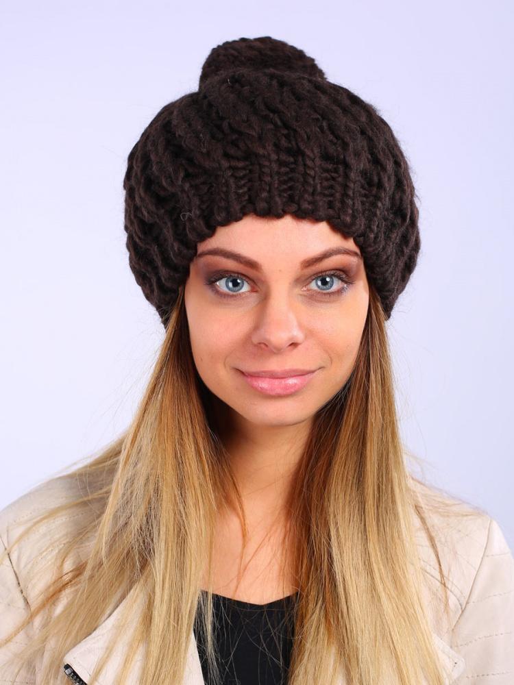 Шапка женская. 98036879803687-19Вязаная женская шапка Venera отлично дополнит ваш образ в холодную погоду. Модель с широкой резинкой, из мягкой пряжи, выполнена простой крупной вязкой. Сочетание используемых материалов максимально сохраняет тепло и обеспечивает удобную посадку. Теплая шапка с помпоном станет отличным дополнением к вашему осеннему или зимнему гардеробу, в ней вам будет уютно и тепло!