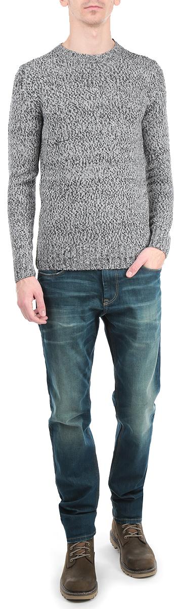 10154062 578Стильный мужской пуловер Broadway, изготовленный из пряжи на основе акрила добавлением шерсти, не сковывает движения, обеспечивая наибольший комфорт. Модель с круглым вырезом горловины и длинными рукавами великолепно сидит. Модный пуловер мелкой вязки поможет вам создать стильный современный образ в стиле Casual. Этот удобный и стильный пуловер станет отличным дополнением к вашему гардеробу. В нем вы всегда будете чувствовать себя уютно в прохладное время года.