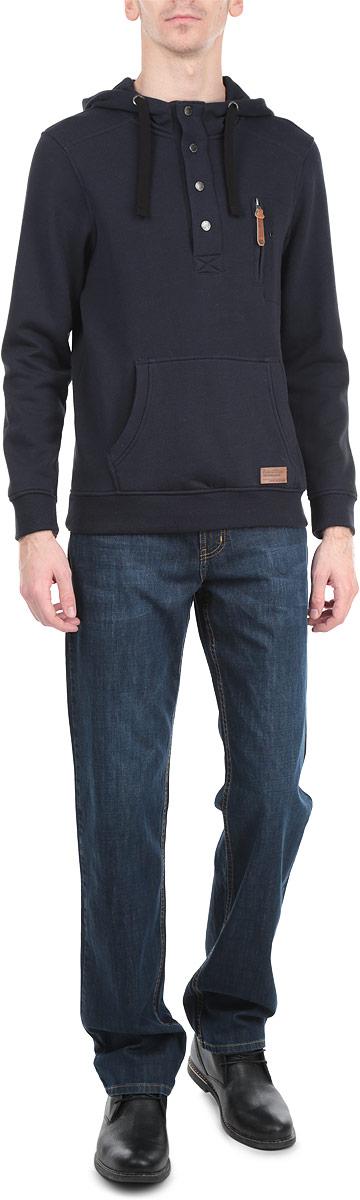 Толстовка мужская. SBL0385SZSBL0385SZСтильная и уютная мужская толстовка Top Secret, изготовленная из хлопка с добавлением полиэстера, мягкая и приятная на ощупь, обладает хорошей гигроскопичностью и позволяет коже дышать. Модель с капюшоном и длинными рукавами не сковывает движений и обеспечивает наибольший комфорт. Манжеты рукавов и низ толстовки оснащены эластичными резинками. Спереди толстовка дополнена карманом-кенгуру. Объем капюшона регулируется при помощи шнурка-кулиски. Эта толстовка - настоящее воплощение комфорта, он послужит отличным дополнением к вашему гардеробу. В ней вы будете чувствовать себя уютно и уверенно.