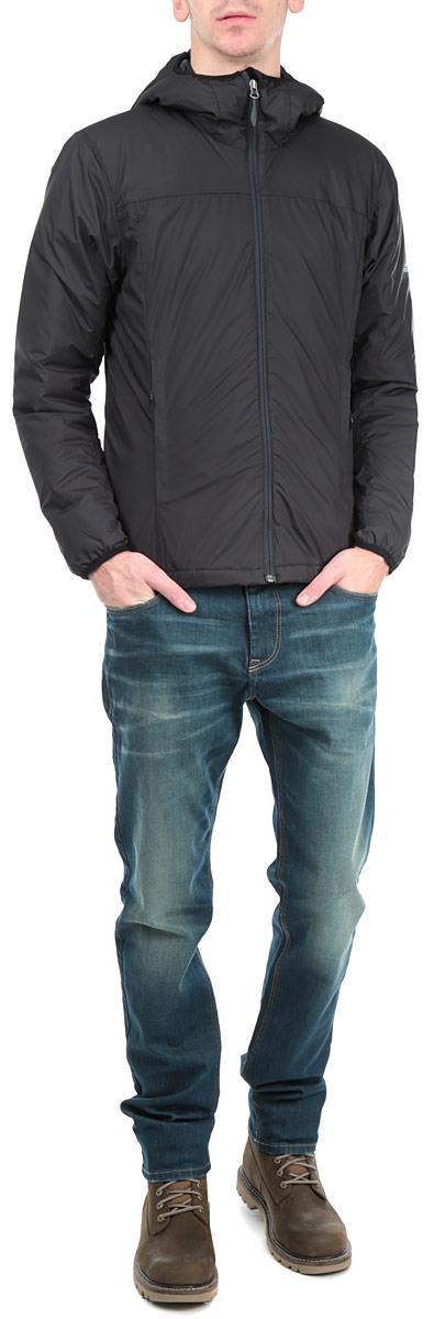 КурткаAA1937Стильная мужская куртка Adidas Alploft с наполнителем из синтепона с добавлением пуха и пера отлично подойдет для холодных дней. Модель прямого кроя с длинными рукавами и несъемным капюшоном застегивается на молнию. Изделие дополнено двумя втачными карманами на молниях спереди, а также внутренним втачным карманом на молнии. Объем низа куртки регулируется при помощи шнурка-кулиски. Эта модная и в то же время комфортная куртка согреет вас в любые морозы и отлично подойдет как для прогулок, так и для занятия спортом.