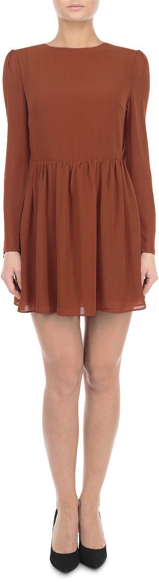 Платье. CK2061 - GlamorousCK2061 BlackЭлегантное и невероятно легкое платье Glamorous, выполненное из полупрозрачного материала, преподносит все достоинства женской фигуры в наиболее выгодном свете. Модель с круглым вырезом горловины и длинными рукавами на спинке застегивается на скрытую застежку-молнию и дополнительно на пуговицу. Втачные рукава чуть присборены в верхней части канта. Благодаря свойствам используемого материала изделие практически не сминается. Это яркое платье станет отличным дополнением к вашему гардеробу!