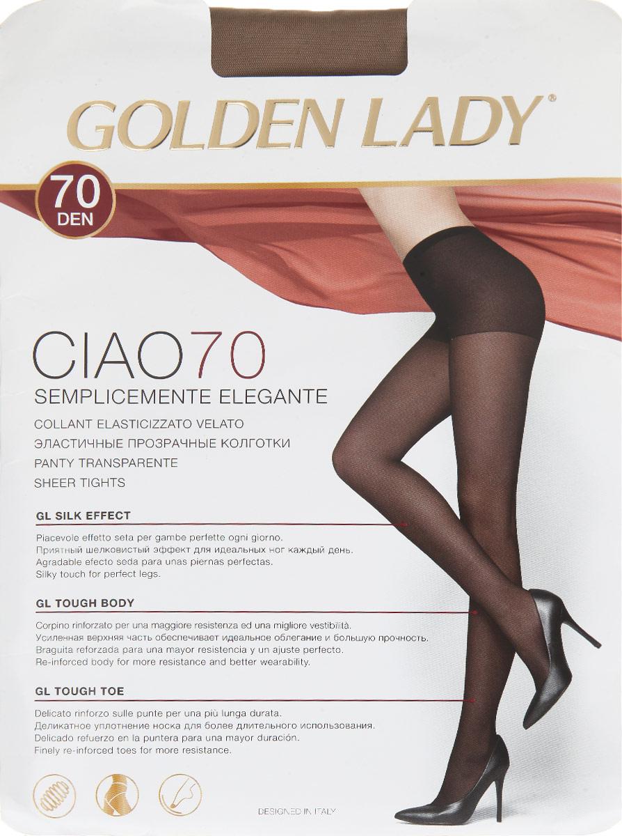Колготки Ciao 7040FFFЭластичные прозрачные колготки Golden Lady Ciao 70, изготовленные из высококачественного комбинированного материала, идеально дополнят ваш образ в прохладную погоду. Колготки легко тянутся, что делает их комфортными в носке. Гладкие и мягкие на ощупь колготки имеют комфортные плоские швы, гигиеническую ластовицу и невидимый мысок. Идеальное облегание и комфорт гарантированы при каждом движении. Эластичная резинка на поясе плотно облегает талию, обеспечивая комфорт и удобство. Плотность: 70 den.