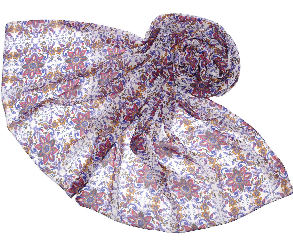 Шарф женский. 262040262040Женский шарф Ethnica, изготовленный из вискозы, подчеркнет вашу индивидуальность. Благодаря своему составу, он легкий, мягкий и приятный на ощупь. Изделие оформлено цветочным принтом с узорами. Такой аксессуар станет стильным дополнением к гардеробу современной женщины.