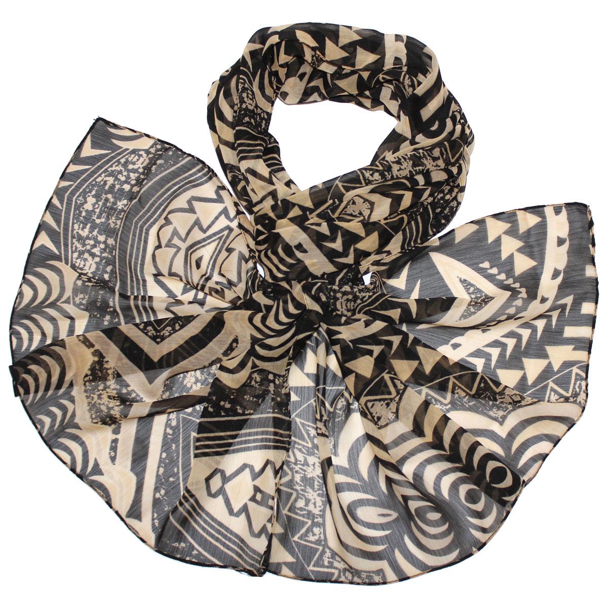 Шарф262040Женский шарф Ethnica, изготовленный из вискозы, подчеркнет вашу индивидуальность. Благодаря своему составу, он легкий, мягкий и приятный на ощупь. Изделие оформлено орнаментом по всей поверхности. Такой аксессуар станет стильным дополнением к гардеробу современной женщины.