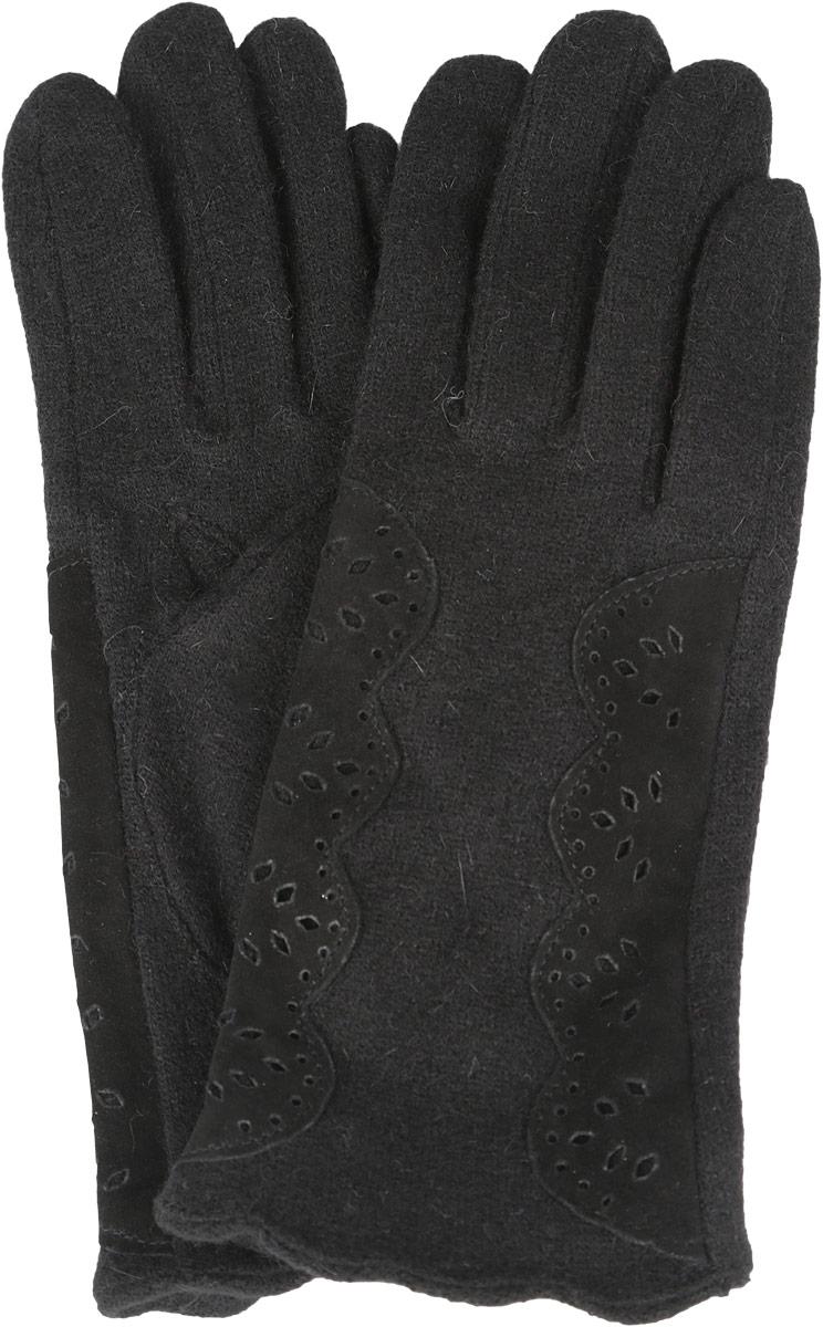 Перчатки женские. 95016649501664-02Стильные женские перчатки Venera не только защитят ваши руки от холода, но и станут великолепным украшением. Перчатки выполнены из натуральной шерсти с добавлением нейлона. Изделие с внешней стороны украшено замшевыми вставками, украшенными ажурным рисунком. В настоящее время перчатки являются неотъемлемой принадлежностью одежды, вместе с этим аксессуаром вы обретаете женственность и элегантность. Перчатки станут завершающим и подчеркивающим элементом вашего стиля и неповторимости.