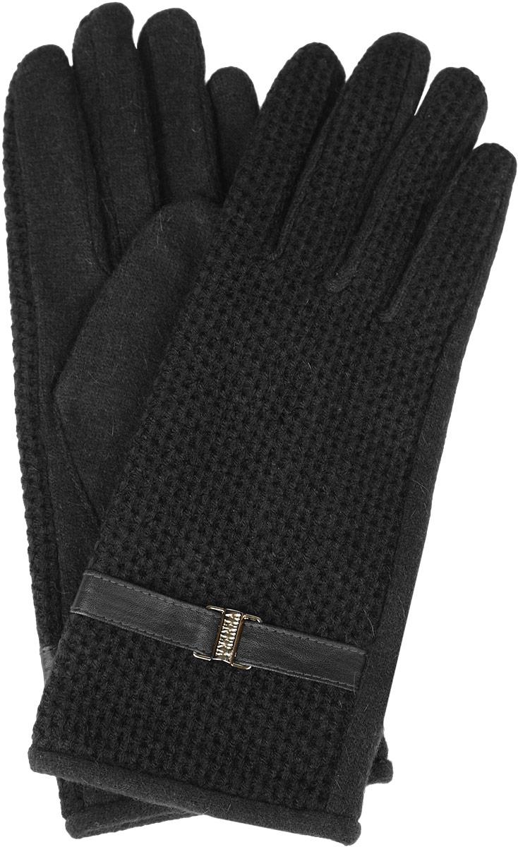 Перчатки женские. 95021649502164-02Стильные женские перчатки Venera не только защитят ваши руки от холода, но и станут великолепным украшением. Модель изготовлена из шерсти с добавлением ангоры и нейлона. Интересный дизайн смотрится очень изысканно и нарядно, а вставка из искусственной кожи, украшенная пряжкой с гравировкой, придает сдержанность и элегантность. Перчатки являются неотъемлемой принадлежностью одежды, вместе с этим аксессуаром вы обретаете женственность и элегантность. Они станут завершающим и подчеркивающим элементом вашего неповторимого стиля и индивидуальности.