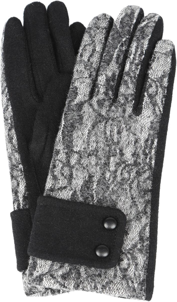 Перчатки женские. 95027649502764-02Стильные женские перчатки Venera не только защитят ваши руки от холода, но и станут великолепным украшением. Модель изготовлена из шерсти с добавлением ангоры и нейлона. Интересный дизайн с имитацией кружева на внешней части перчаток смотрится очень изысканно и нарядно, а вставка с пуговичками, имитирующая ремешок, придает сдержанность и элегантность. Перчатки являются неотъемлемой принадлежностью одежды, вместе с этим аксессуаром вы обретаете женственность и элегантность. Они станут завершающим и подчеркивающим элементом вашего неповторимого стиля и индивидуальности.