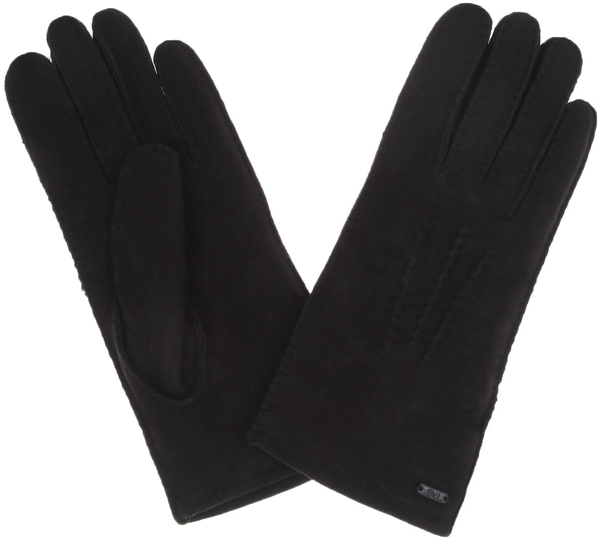 Перчатки25.1-1Элегантные женские перчатки Fabretti станут великолепным дополнением вашего образа и защитят ваши руки от холода и ветра во время прогулок. Перчатки выполнены из натуральной кожи (велюра), а с изнаночной стороны выполнены из искусственного меха, что позволяет им надежно сохранять тепло. Модель оформлена декоративной прострочкой и украшена небольшой пластиной с логотипом бренда. Такие перчатки будут оригинальным завершающим штрихом в создании современного модного образа, они подчеркнут ваш изысканный вкус и станут незаменимым и практичным аксессуаром.