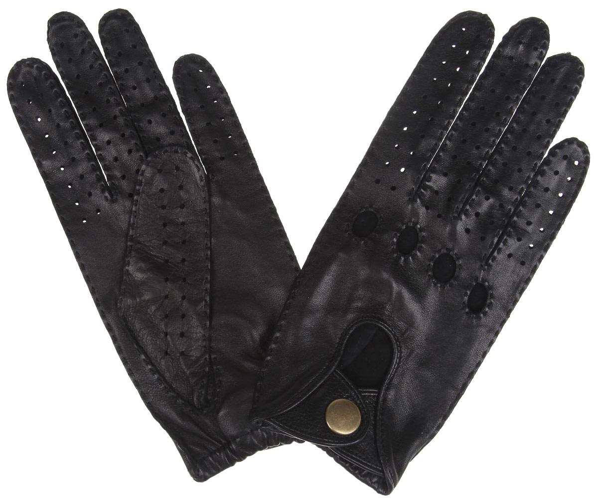 Перчатки автомобильные. ALG1ALG1/BLСтильные автомобильные перчатки Fabretti позволяют сделать управление автомобилем максимально комфортным и безопасным. Изготовлены перчатки из эфиопской натуральной кожи ягненка и дополнены с внешней стороны хлястиком на кнопке. Летом в перчатках комфортно благодаря специальным вентиляционным отверстиям и перфорации, зимой - холодный руль больше не доставит неудобств.