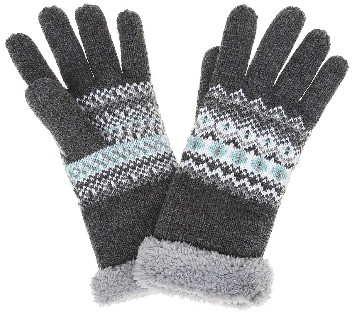 Перчатки женские. Z-RE-1814Z-RE-1814 GRAPHITE MELВязаные женские перчатки Moodo надежно защитят ваши руки от холода. Перчатки выполнены из высококачественного акрила с подкладкой из флиса. Запястье изделие дополнено крупным ворсом. Модель оформлена нежным цветным узором. Перчатки станут завершающим и подчеркивающим элементом вашего стиля и неповторимости.