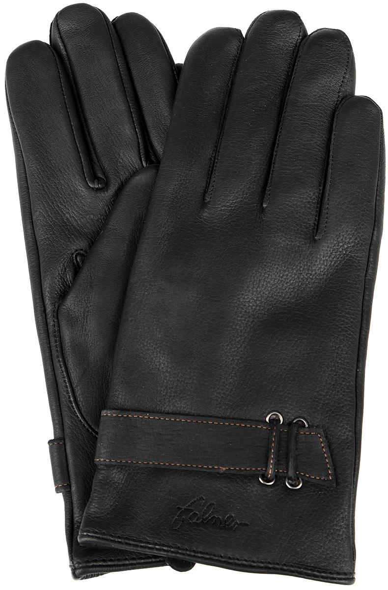 M-1Стильные мужские перчатки Falner не только защитят ваши руки, но и станут великолепным украшением. Перчатки выполнены из чрезвычайно мягкой и приятной на ощупь натуральной кожи, а их подкладка - из шерсти с добавлением акрила. Перчатки оформлены тиснением в виде названия бренда и украшены на манжетах декоративными ремешками. Манжеты с внутренней стороны дополнены разрезами. Модель благодаря своему лаконичному исполнению прекрасно дополнит образ любого мужчины и сделает его более стильным, придав тонкую нотку брутальности. Создайте элегантный образ и подчеркните свою яркую индивидуальность новым аксессуаром!