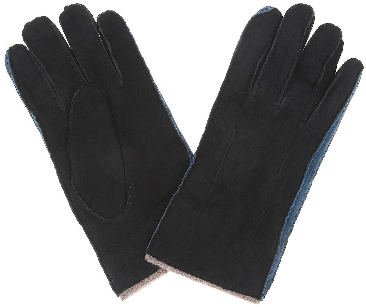 Перчатки мужские. SP16_FORKSP16_FORK/BLСтильные мужские перчатки Dali Exclusive не только защитят ваши руки, но и станут великолепным украшением. Перчатки выполнены из чрезвычайно мягкой и приятной на ощупь натуральной замши, а их подкладка - из натуральной шерсти. Перчатки с внешней стороны оформлены декоративными стежками. Модель благодаря своему лаконичному исполнению прекрасно дополнит образ любого мужчины и сделает его более стильным, придав тонкую нотку брутальности. Создайте элегантный образ и подчеркните свою яркую индивидуальность новым аксессуаром!