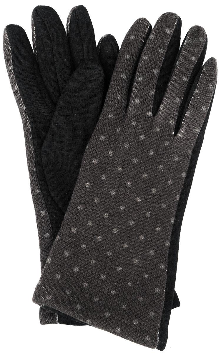 Перчатки женские. 4629146291Стильные женские перчатки Sunrock не только защитят ваши руки от холода, но и станут великолепным украшением. Перчатки выполнены из 100% хлопка, а с внутренней стороны дополнены ворсистым слоем текстиля, а также флисовым слоем. Перчатки с внешней стороны оформлены гороховым принтом. В настоящее время перчатки являются неотъемлемой принадлежностью одежды, вместе с этим аксессуаром вы обретаете женственность и элегантность. Перчатки станут завершающим и подчеркивающим элементом вашего стиля и неповторимости.